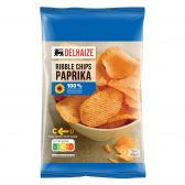 Delhaize Paprika ribbel chips