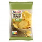 Delhaize Peper en zout ribbel chips