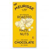 Meurisse Biologische ecologische melkchocolade geroosterde hazelnoten fair trade