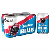 Jupiler Blond pils bier blauw
