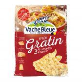 Vache Bleue Gratin, Emmental, Maasdam geraspte kaas (voor uw eigen risico, geen restitutie mogelijk)