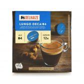 Delhaize Decaf lungo coffee caps
