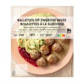 Delhaize Swedish balls with pepper cream sauce (at your own risk, no refunds applicable)