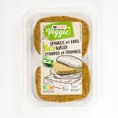 Delhaize Organic vegetarian spinach-cheese burger (at your own risk, no refunds applicable)