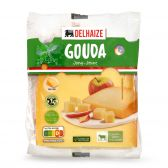 Delhaize Young Gouda cheese piece large