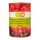 Delhaize Organic peeled tomato cubes