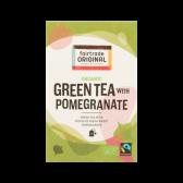 Fair Trade Original Biologische groene thee met granaatappel