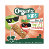 Organix Soft oat bars with apple and strawberries for kids