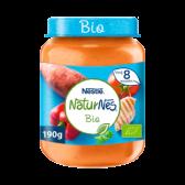 Nestle Naturnes biologische zoete aardappel, paprika en kip baby voeding (vanaf 8 maanden)