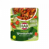 Hak Italian vegetable dish with tomato, courgette and basil