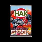 Hak Taart en vlaaifruit bosvruchten