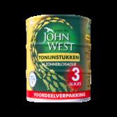 John West Tonijnstukken in zonnebloemolie 3-pack