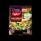 Iglo Noedels rundvlees met spinazie en peultjes (alleen beschikbaar binnen Europa)