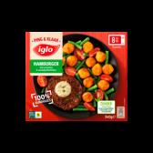 Iglo Hamburger met aardappelbolletjes en groenten (alleen beschikbaar binnen Europa)