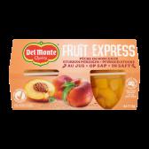 Del Monte Fruit express peach pieces on juice