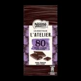 Nestle L'atelier 80% dark chocolate bar