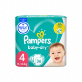 Pampers Baby dry size 4 diapers to 12 hour protection (from 9 kg to 14 kg)