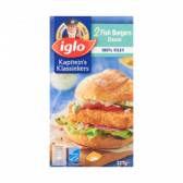 Iglo Classic fish burger (only available within Europe)