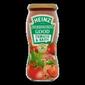 Heinz Tomato and basil pasta sauce