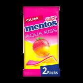 Mentos Aqua kus aardbeien mandarijn kauwgom 2-pack