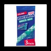 Mentos Breeze mint chewing gum 3-pack