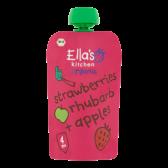 Ella's Kitchen Biologische aardbeien, rabarber en appel (vanaf 4 maanden)