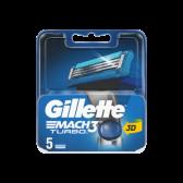 Gillette Mach 3 turbo razor blades refill small