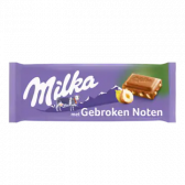 Milka Chocolate tablet with broken hazelnuts