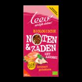 Leev Bio krokant gebakken noten & zaden aardbei