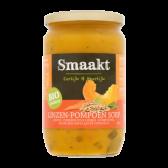 Smaakt Biologische linzen-pompoen soep