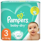 Pampers Baby dry size 3 diapers to 12 hour protection (from 6 to 10 kg)