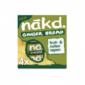 Nakd Gingerbread fruit bar with nuts