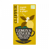 Clipper Organic lemon and ginger infusion tea