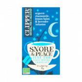 Clipper Organic camomille, lemon and lavender infusion tea snore and peace