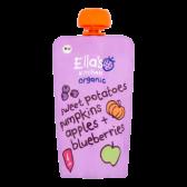 Ella's Kitchen Biologische zoete aardappelen, pompoen, appels en blauwe bessen (vanaf 4 maanden)