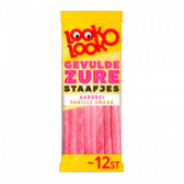 Look o Look Stuffed sour bars with strawberry and vanilla flavour