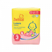 Zwitsal Midi size 3 diapers volume pack