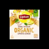 Lipton Biologische citroen en gember infusie kruidenthee