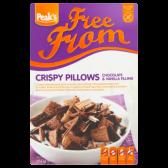 Peak's Gluten free crispy pillows with chocolate and vanilla stuffing kussentjes met chocolade en vanille vulling