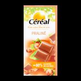 Cereal Praline bar less sugars