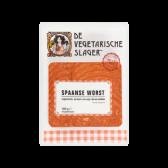 De Vegetarische Slager Spaanse worst (voor uw eigen risico, geen restitutie mogelijk)