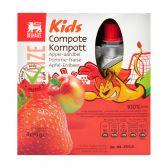 Delhaize Appel en aardbei compote voor kinderen
