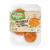 Delhaize Organic and vegetarian mini carrot burger (only available within Europe)