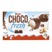 Kinder Cookies chocolate fresh with chocolate, milk and hazelnuts