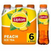 Lipton Ice tea peach non sparkling 6-pack
