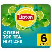 Lipton Ice tea green tea green mint lime non sparkling 6-pack