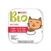 Delhaize Organic cat food with beef pate small (only available within Europe)