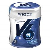 V6 White cool mint chewing gum