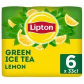 Lipton Ice tea green lemon non sparkling 6-pack