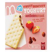 Albert Heijn Yoghurt fruitbiscuits met aardbei